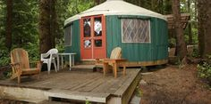 Unique Yurts - Wya Point Resort, Ucluelet, B. Pin curated by for… Vancouver Vacation, Vancouver City, Vancouver Island, Best Places To Travel, Places To Go, Yurt Camping, Glamping, Gypsy Living, Van Living