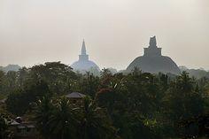 Stupas in Sri Lanka. Strange architecture: http://srilanka.for91days.com/2012/03/12/the-stupas-of-anuradhapura