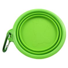 Alfie Pet by Petoga Couture - Rosh Silicone Pet Expandable/Collapsible Travel Bowl with Carabineer for Leash - Size: 1.5 Cups, Color: Green - http://www.thepuppy.org/alfie-pet-by-petoga-couture-rosh-silicone-pet-expandablecollapsible-travel-bowl-with-carabineer-for-leash-size-1-5-cups-color-green/