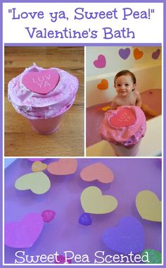 "Play Create Explore: ""Love ya, Sweet Pea!"" Valentine's Day Bath"