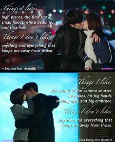Healer: drama quote: Ji Chang Wook as Seo Jung Hoo; Park Min Young as Chae Young Shin (ep20)