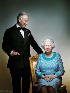 Charles, Prince of Wales with his mother Queen Elizabeth II of UK.