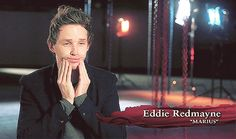 When he did this, and was still gorgeous. | Community Post: 16 Times Eddie Redmayne Was The Most Magical Human Alive