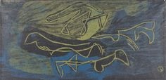 """""""Birds in Flight"""", 1945, Louis Schanker, American (1903-1981), woodcut on paper, 7 13/16 x 16 1/16 in. Museum purchase with funds from the Benefactors Fund, 1950. 1950.1179"""