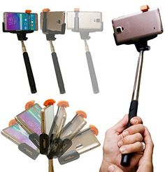 Selfie stick with built-in remote shutter. Compatible with all phone models!