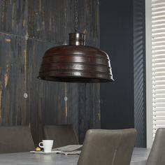 Hanglamp 1L Ø50 Factory antiek