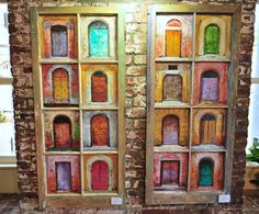 set of doorways [Art Exhibition by Naydene Gonnella at The Copper and Lumber Store Hotel in Antigua and Barbuda]