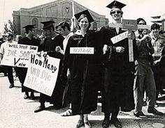 University Students protesting war | The 1968 Exhibit