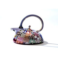Richard Marquis, master glass artist at Wexler Gallery in Philadelphia, PA. Cute Teapot, Secondary Market, Historical Artifacts, Asian Design, Venetian Glass, Pretty And Cute, Tea Pots, Glass Art, Philadelphia Pa