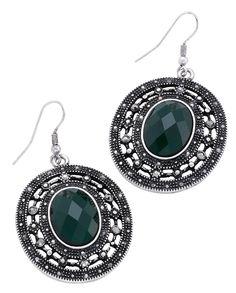 Bijou Brigitte  Drop earrings - Green Stone