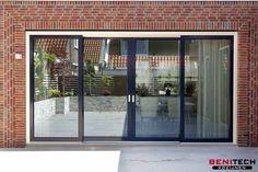 Balcony Doors, Patio Doors, Sliding Door Window Treatments, Sliding Doors, Stone Interior, Interior Design Living Room, Modern Exterior, Interior And Exterior, Door Design