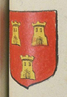 Claude DE SIENNE, prêtre chanoine de Saint Leonard de Chemillé. Porte : de gueules, à trois tours d'or   N° 73