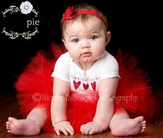 Baby Girl Valentines Day Outfit Valentines Day Tutu Set Infant Valentine Outfit 9 12 18 Months on Etsy, $33.50