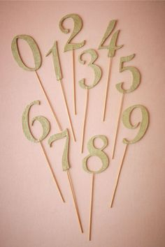 20 DIY Wedding Table Number Ideas - I dont known if I'll even have numbered tables but I if I do...