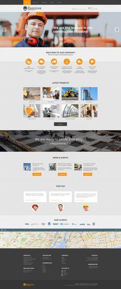 Construction Company Moto CMS HTML Template Website