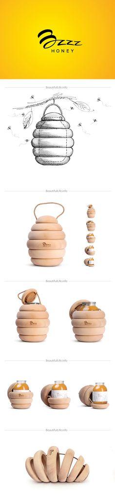 Packaging design Honey E 'progettato per lavorare dal nimesulide Virginia Backbone Studio, con il materiale da imballaggio in legno, in modo da farci sentire il prodotto di interesse naturale, anche se la simulazione formale ci dà qualche spazio per l'immaginazione, ma anche in generale più facilmente collegati insieme al prodotto.