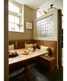 The cozy, casual kitchen nook in the Chelsea flat of Marissa and Matt Hermer.