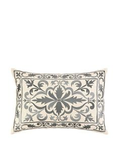 Peking Handicraft Buckingham Pillow, Grey at MYHABIT