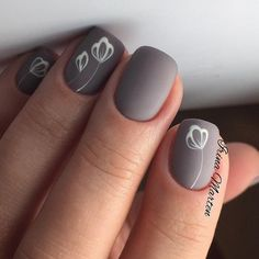 essie nail polish, go go geisha, light pink nail polish, fl. Grey Matte Nails, Neutral Nails, Matte Nail Art, Neutral Colors, Nail Polish, Simple Nail Art Designs, Nail Art Flower Designs, Super Nails, Flower Nails