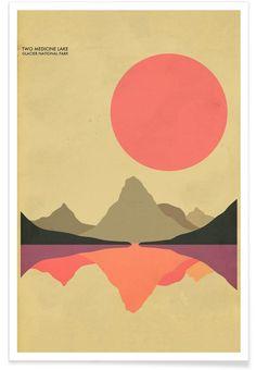 Glacier National Park as Premium Poster by Jazzberry Blue | JUNIQE