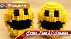 Perler Bead 3D Pacman Perler Bead Designs, Perler Bead Templates, Diy Perler Beads, Hamma Beads 3d, Pearler Beads, Fuse Beads, Hama Beads Patterns, Beading Patterns, Perler Bead Mario