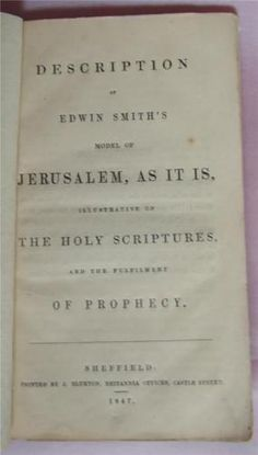Description-of-Edwin-Smith-039-s-Model-of-Jerusalem-1847-Map-of-Jerusalem-Rare