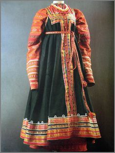 The late XVIII - early XIX century Costume Russe, Mode Russe, Russian Fashion, Russian Style, Russian Folk, Party Wear For Women, Tribal Outfit, Mega Fashion, Thinking Day