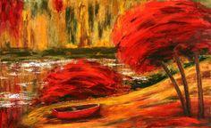 Autumn River by Galina Kakovkina.  THE COLORS!
