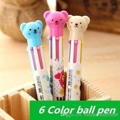 Wholesale 30 pcs / Lot stylos à bille Cute Teddy Bear bureau Nouveauté Papeterie Narguilé stylo Caneta fournitures accessoires scolaires, Free shipping, $0.84/Pièce   DHgate Mobile