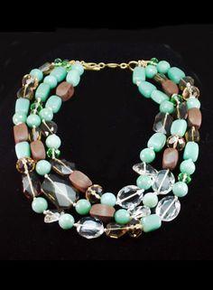 Trendy Mixed Bead Necklace