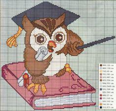 coruja professora - Ponto Cruz Lindos
