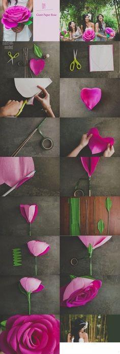 DIY huge paper wedding flower - Create your free online wedding invitation at Wedivite.com