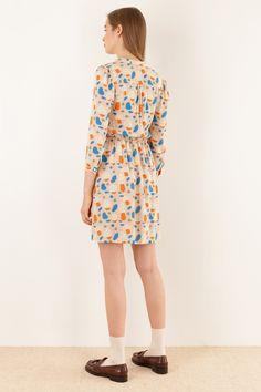 Chemisier funghetti - illustrazione di Anna Kövecses Abbigliamento Donna Made in…