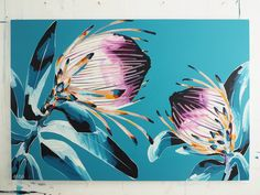 Buy online a limited edition canvas print of an original Anya Brock painting.