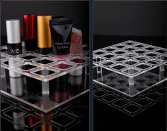 100%Handmade in Korea Acrylic 25 compartment Lipsticks ORGANIZER Display Holder -US $19.70