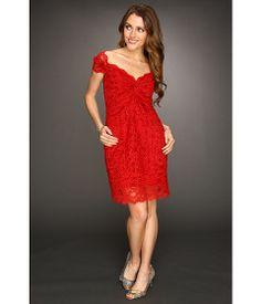 Nicole Miller Off The Shoulder Stretch Lace Dress