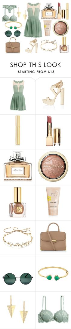 """""""Без названия #3190"""" by southerncomfort ❤ liked on Polyvore featuring Atelier 61, Topshop, AERIN, Clarins, Christian Dior, Max Factor, Estée Lauder, Marc Jacobs, J.Crew and Alexander Wang"""