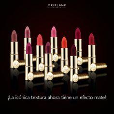 El favorito de muchas ¡ahora con efecto mate! Apostamos a que uno no será suficiente, amarás todos los tonos. #Mate #Lipstick #Color #GiordaniGold
