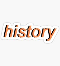 History - One Direction Pegatina