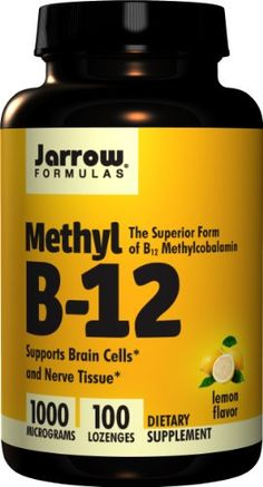 Jarrow Formulas Methyl-B12, Lemon Flavor, 1000mcg, 100 Lozenges Jarrow Most effective B12 supplement. http://www.amazon.com/dp/B002FJW3ZY/ref=cm_sw_r_pi_dp_17nQub0HJKSQB