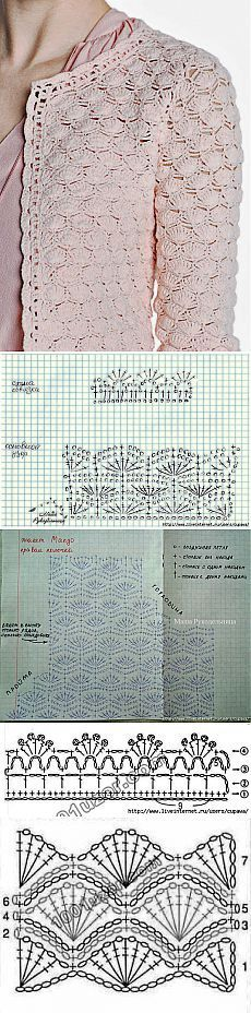Ideas crochet shrug diagram beautiful for 2019 Gilet Crochet, Crochet Coat, Crochet Jacket, Crochet Cardigan, Crochet Shawl, Crochet Clothes, Crochet Diagram, Crochet Motif, Crochet Stitches