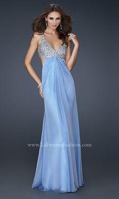 LA FEMME V-NECK DRESS-EB-563974133-US$155