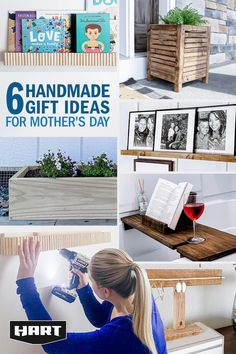 Diy Arts And Crafts, Crafts To Make, Fun Crafts, Wood Gifts, Diy Gifts, Diy Wood Projects, Woodworking Projects, Diy Mothers Day Gifts, Mother's Day Diy