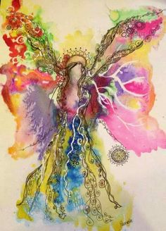 Angel Images, Angel Pictures, Angel Artwork, Angel Paintings, Angel Drawing, Arte Floral, Pics Art, Butterfly Wings, Oeuvre D'art