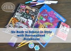 Personalize your notebooks for Back to School by Club Chica Circle.
