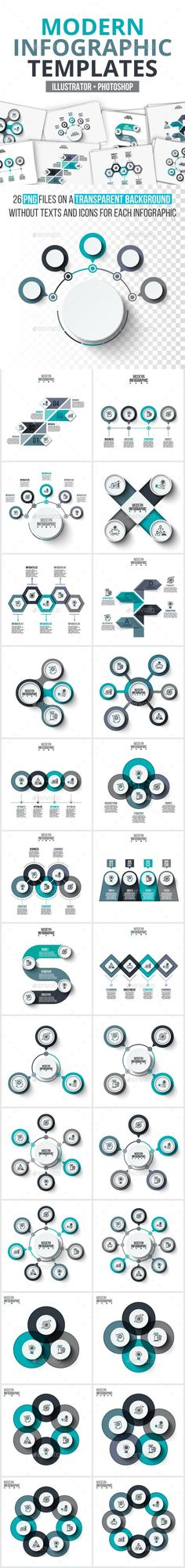 Modern infographic pack - #Infographics