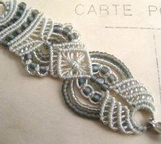 Knot Just Macrame by Sherri Stokey: Subtlety Macrame Art, Macrame Design, Macrame Knots, Macrame Necklace, Macrame Jewelry, Macrame Bracelets, Loom Bracelets, Friendship Bracelets, Jewelry Knots