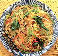 Korean Cellophane Noodles with Vegs:  From Healthy Noodles