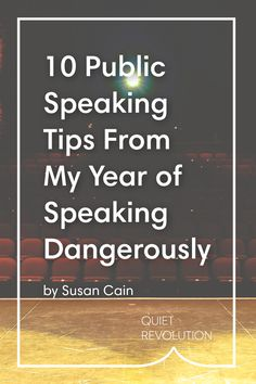 """How did Susan Cain """"speak dangerously"""" on the @tednews  stage? Read on for her public speaking advice!"""