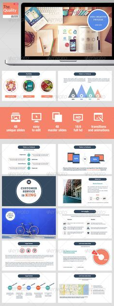 Buy The Quality Keynote Template by improvepresentation on GraphicRiver. The Quality Keynote Template 48 SLIDES Of pure quality delivered with all master slides for each page which you can c. Presentation Layout, Presentation Slides, Presentation Templates, Web Design, Layout Design, Dashboard Design, Creative Powerpoint, Sales Template, Book Cover Design